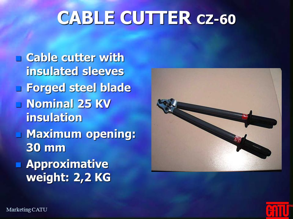 CABLE CUTTER CZ-60 Cable cutter with insulated sleeves