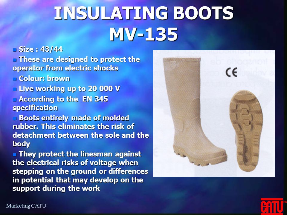 INSULATING BOOTS MV-135 Size : 43/44