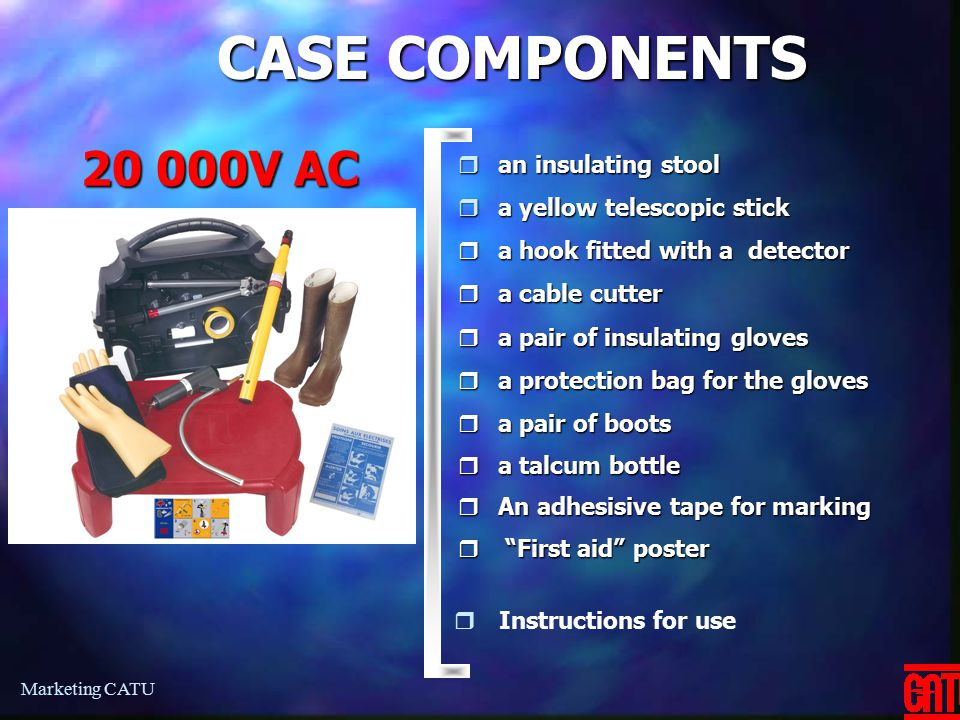 CASE COMPONENTS 20 000V AC an insulating stool