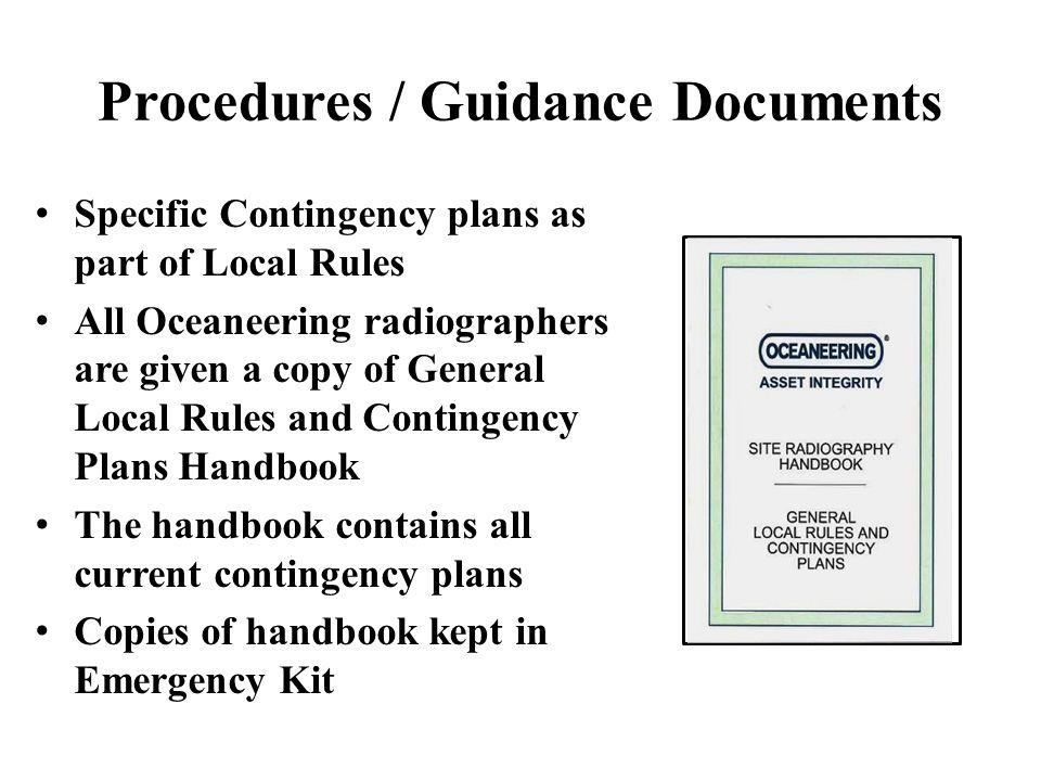 Procedures / Guidance Documents
