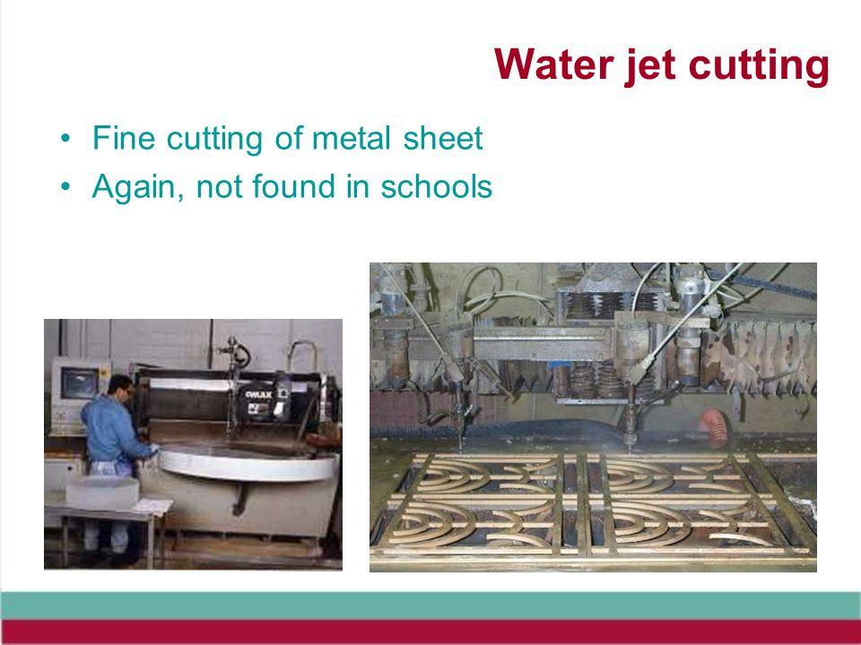 Water jet cutting Fine cutting of metal sheet