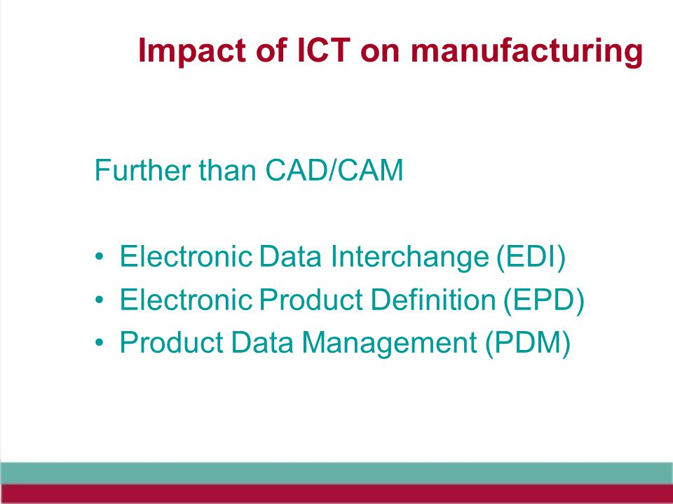 Impact of ICT on manufacturing