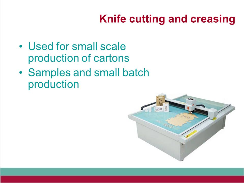 Knife cutting and creasing