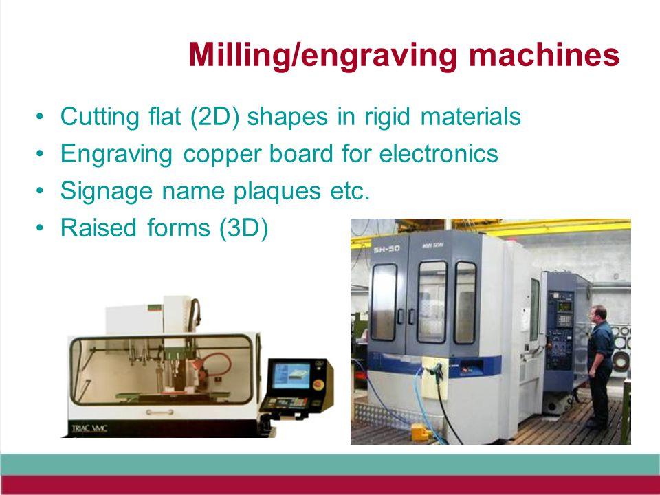 Milling/engraving machines