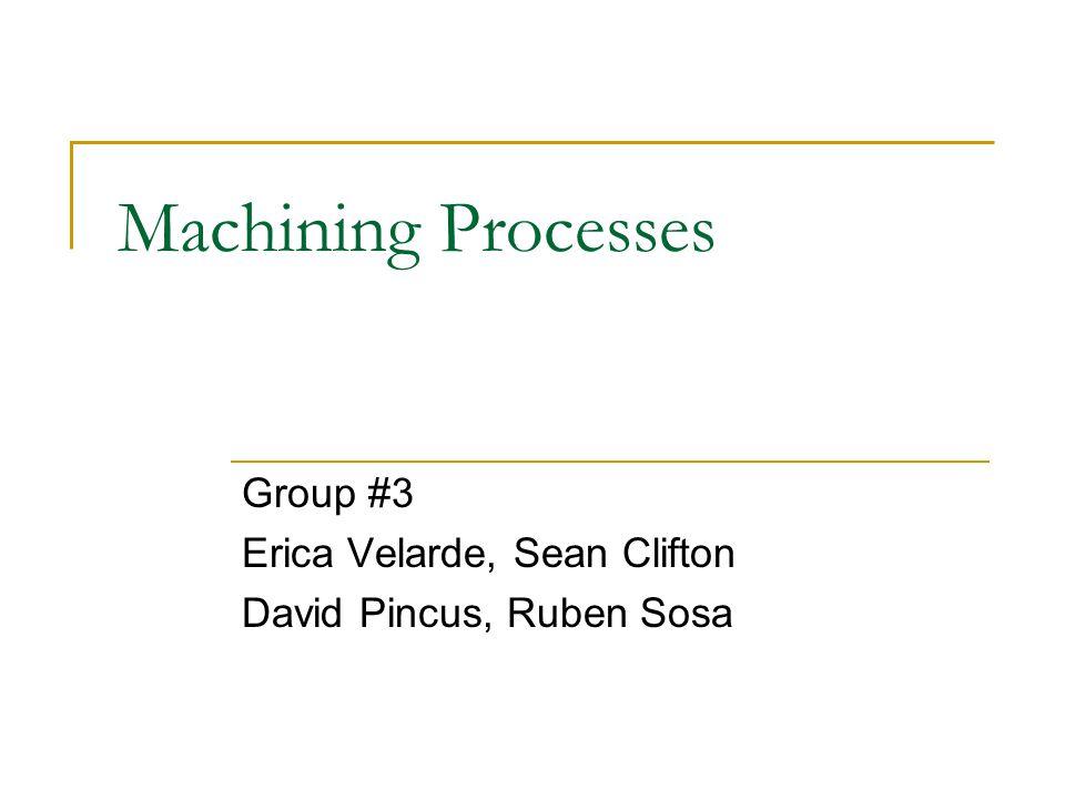 Group #3 Erica Velarde, Sean Clifton David Pincus, Ruben Sosa