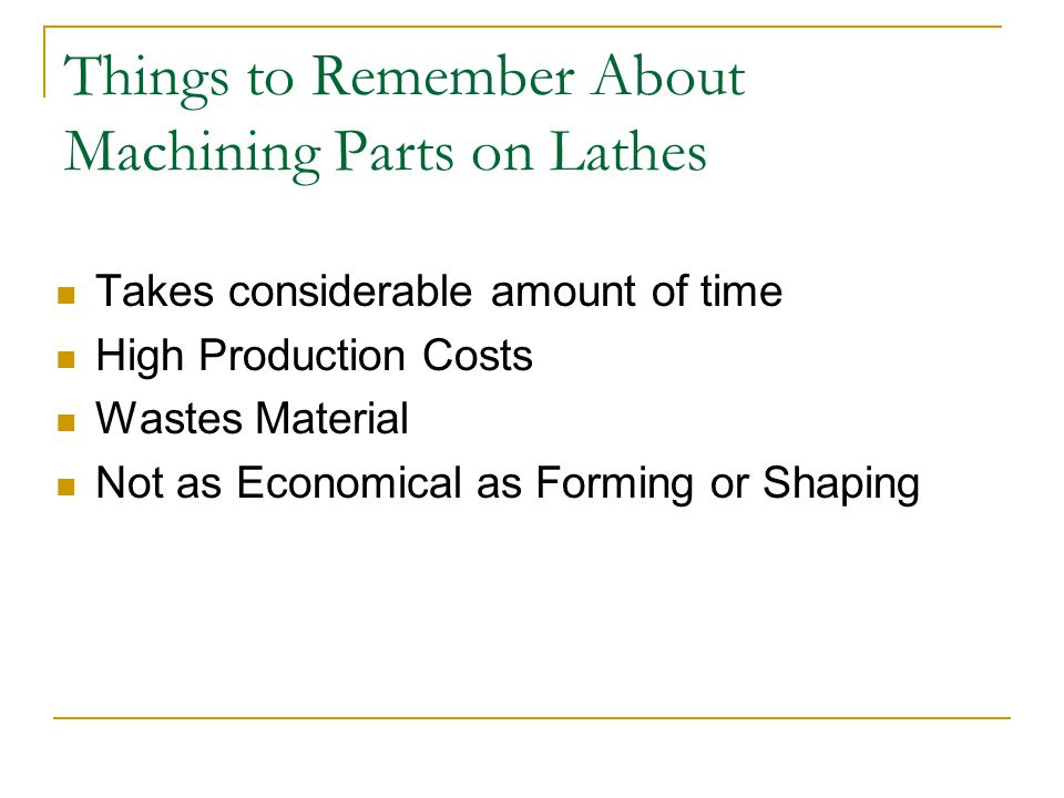 Things to Remember About Machining Parts on Lathes