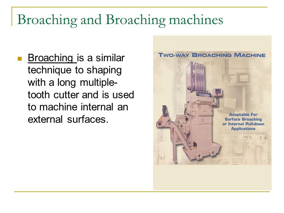 Broaching and Broaching machines