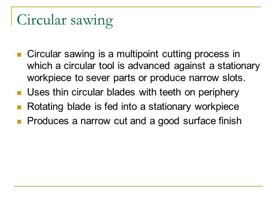 Circular sawing