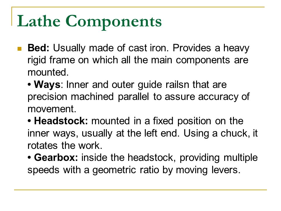 Lathe Components