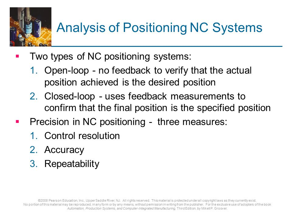 Analysis of Positioning NC Systems