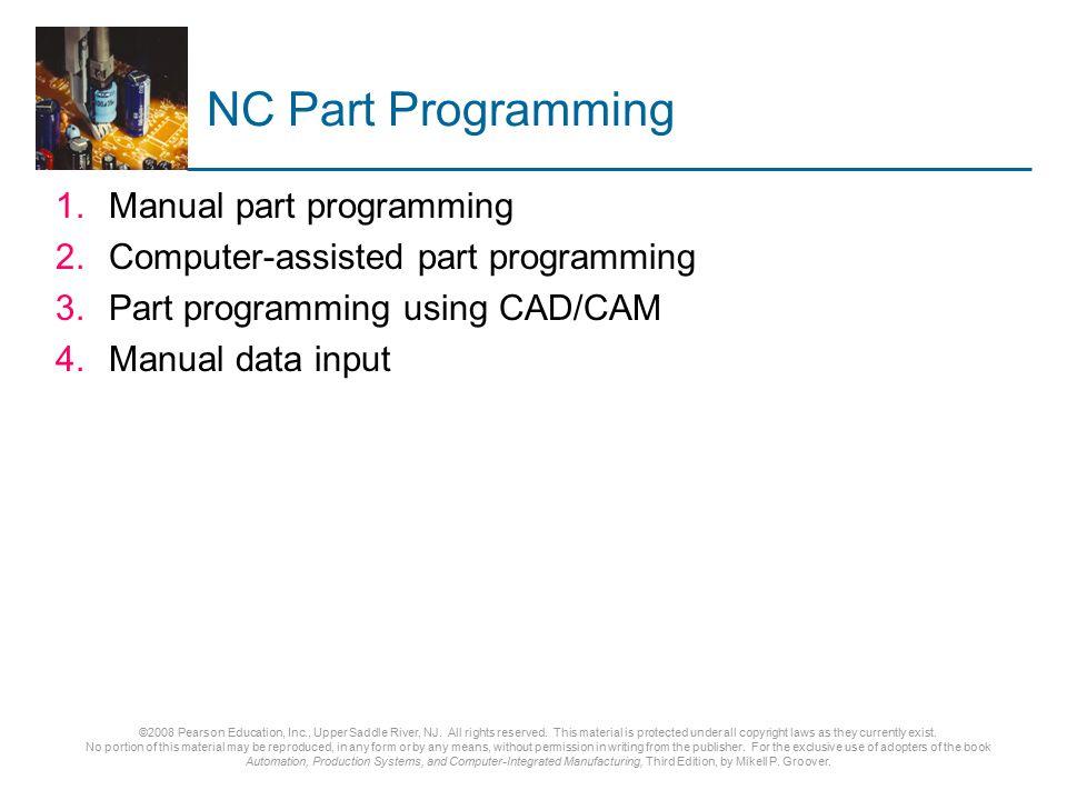 NC Part Programming Manual part programming