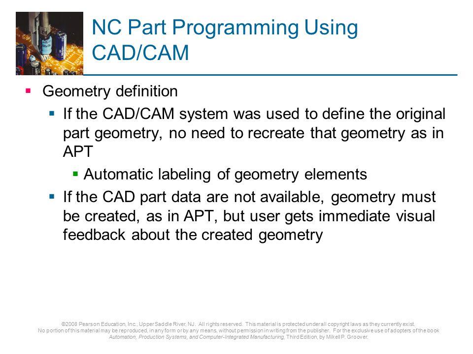 NC Part Programming Using CAD/CAM