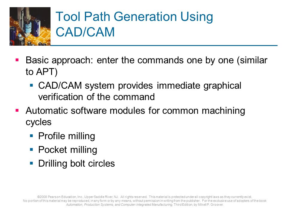 Tool Path Generation Using CAD/CAM