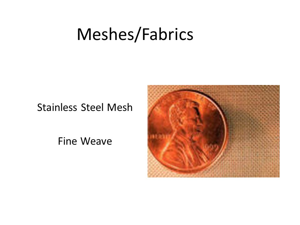 Meshes/Fabrics Stainless Steel Mesh Fine Weave