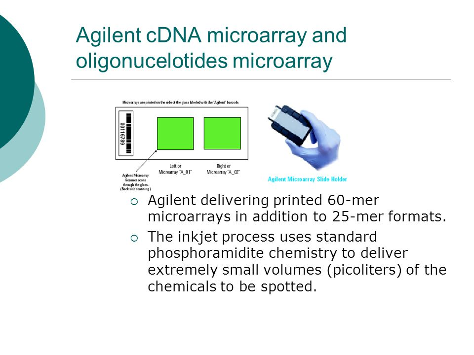 Agilent cDNA microarray and oligonucelotides microarray