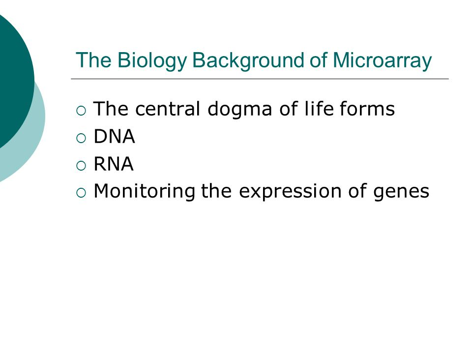 The Biology Background of Microarray