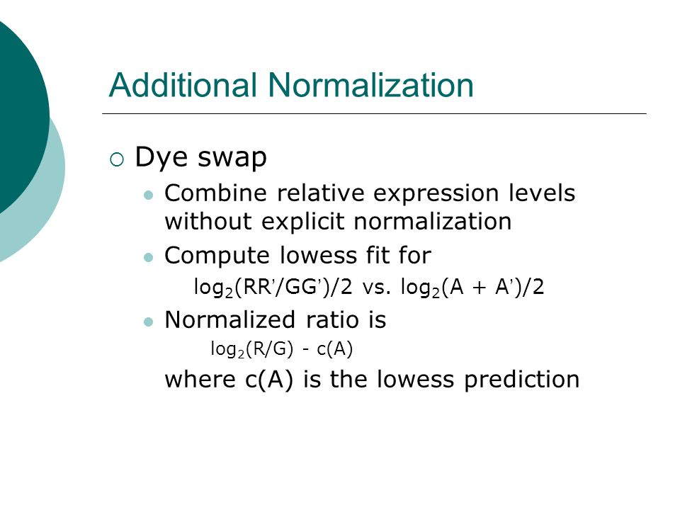 Additional Normalization