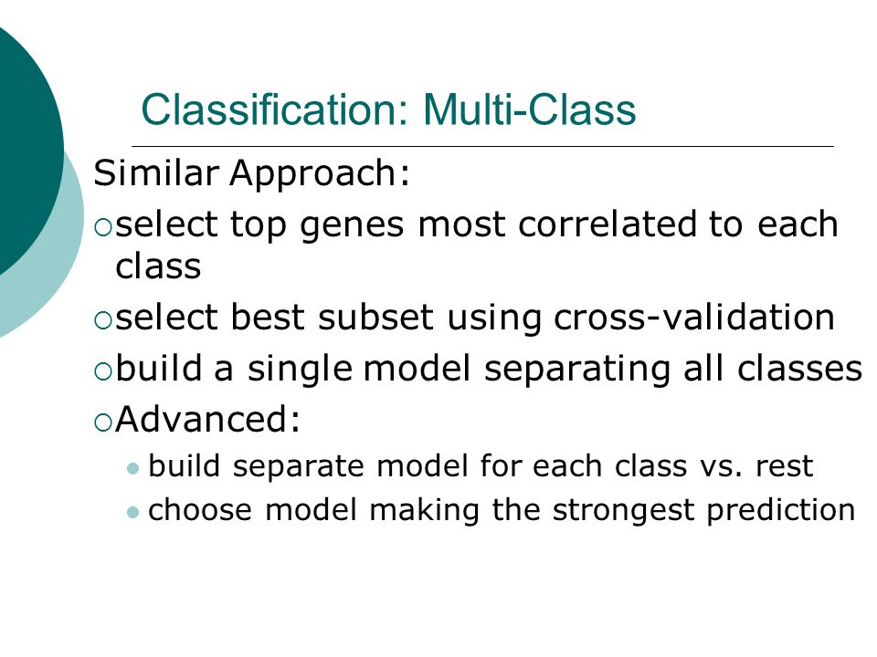 Classification: Multi-Class