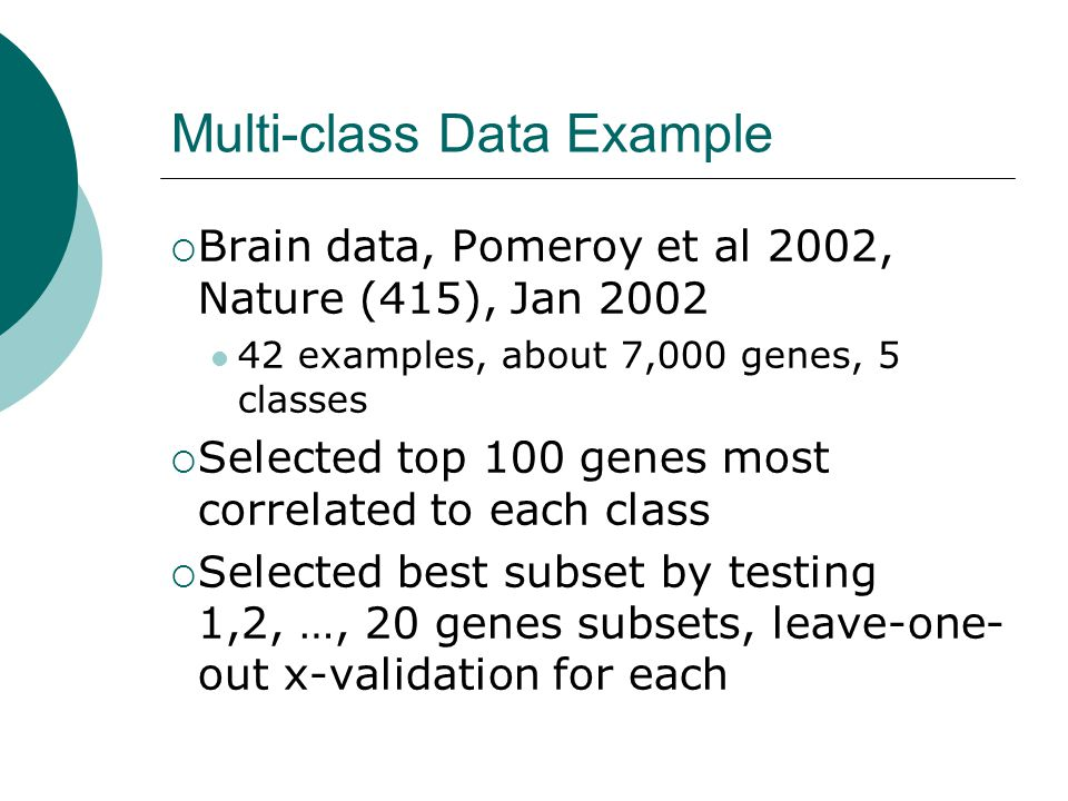 Multi-class Data Example
