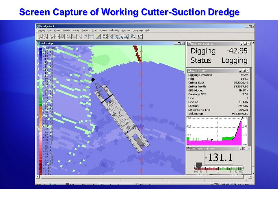 Screen Capture of Working Cutter-Suction Dredge