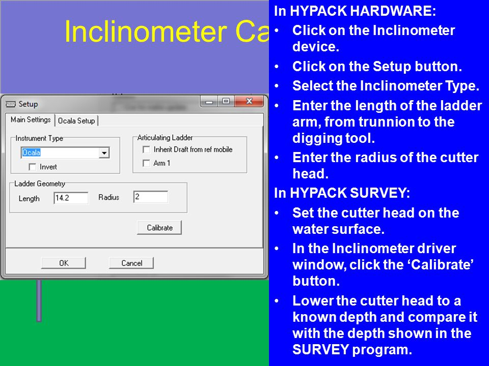 Inclinometer Calibration