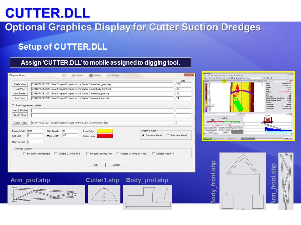 CUTTER.DLL Optional Graphics Display for Cutter Suction Dredges