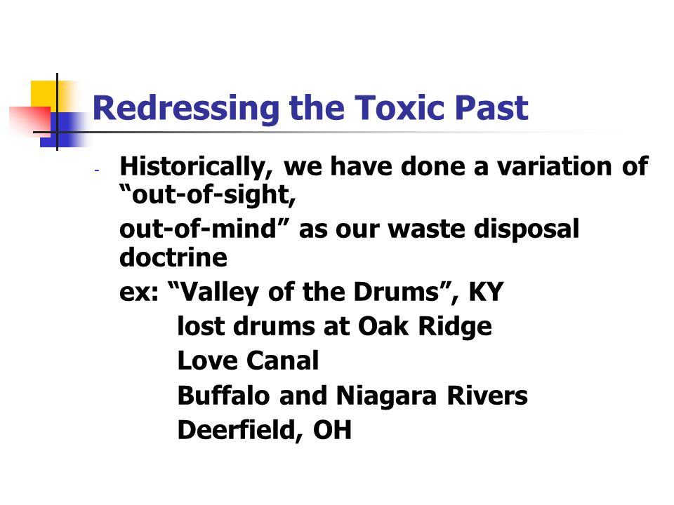 Redressing the Toxic Past
