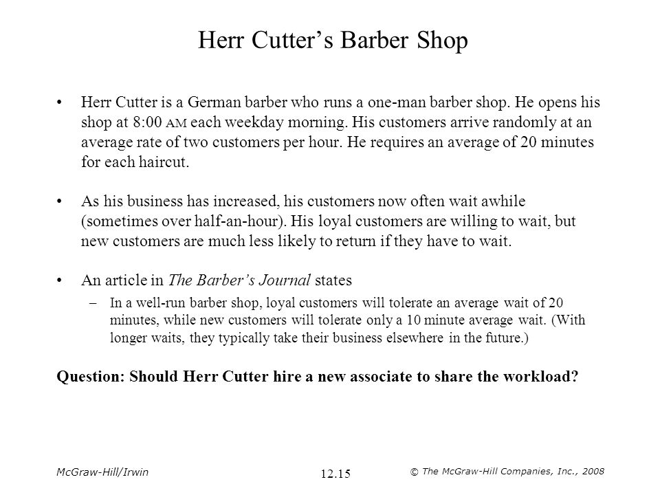 Herr Cutter's Barber Shop