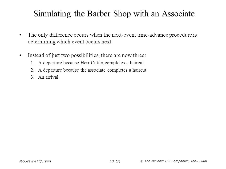 Simulating the Barber Shop with an Associate