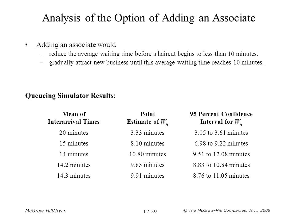 Analysis of the Option of Adding an Associate