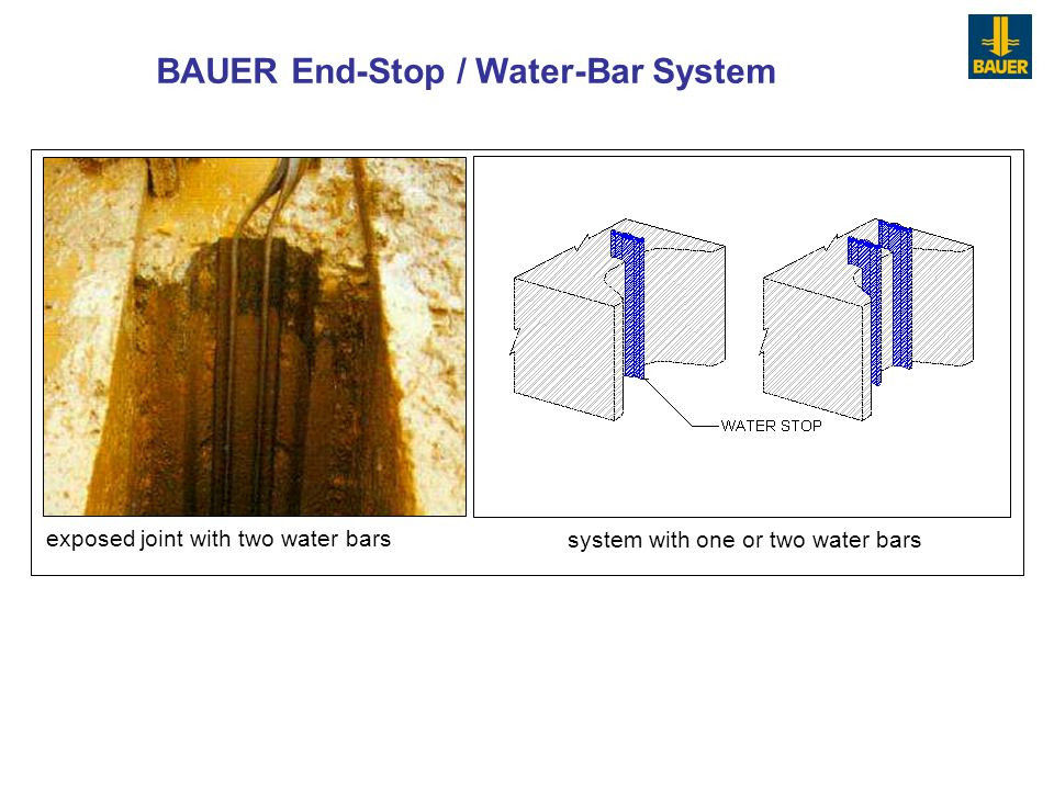 BAUER End-Stop / Water-Bar System