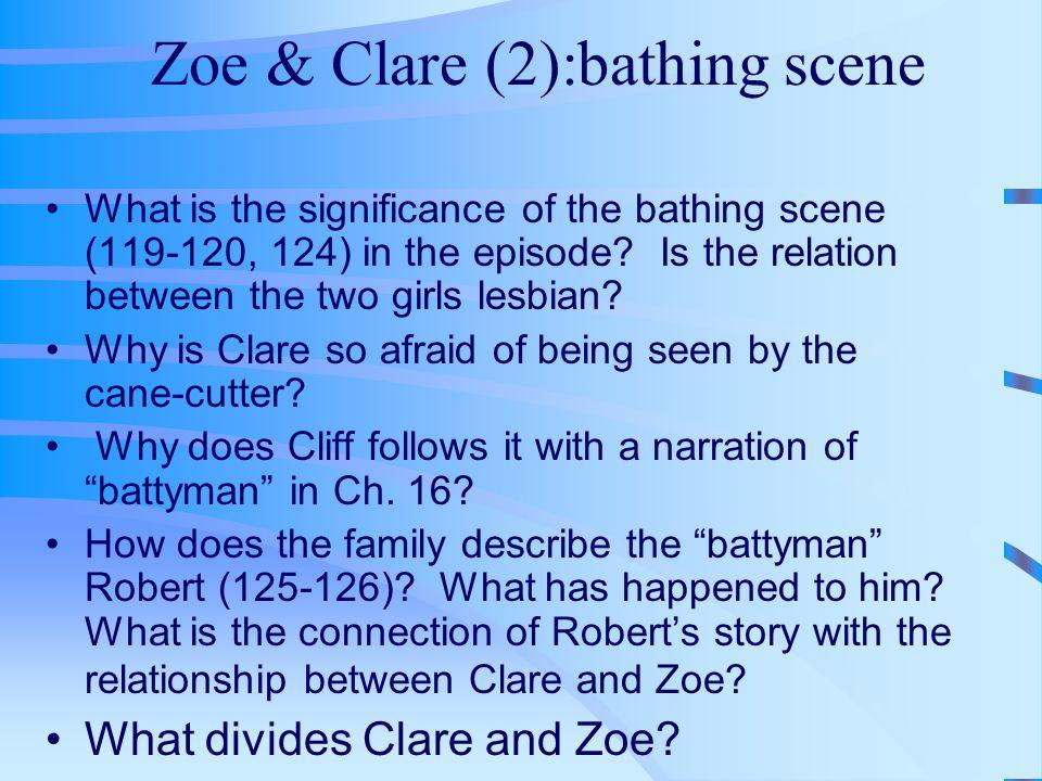 Zoe & Clare (2):bathing scene