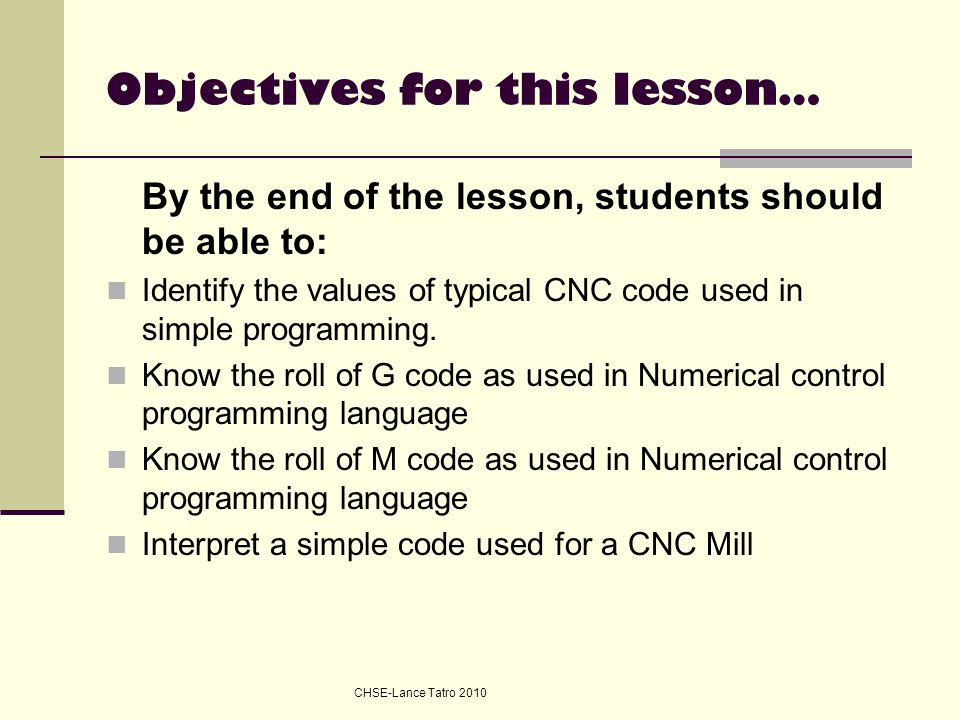 Objectives for this lesson…