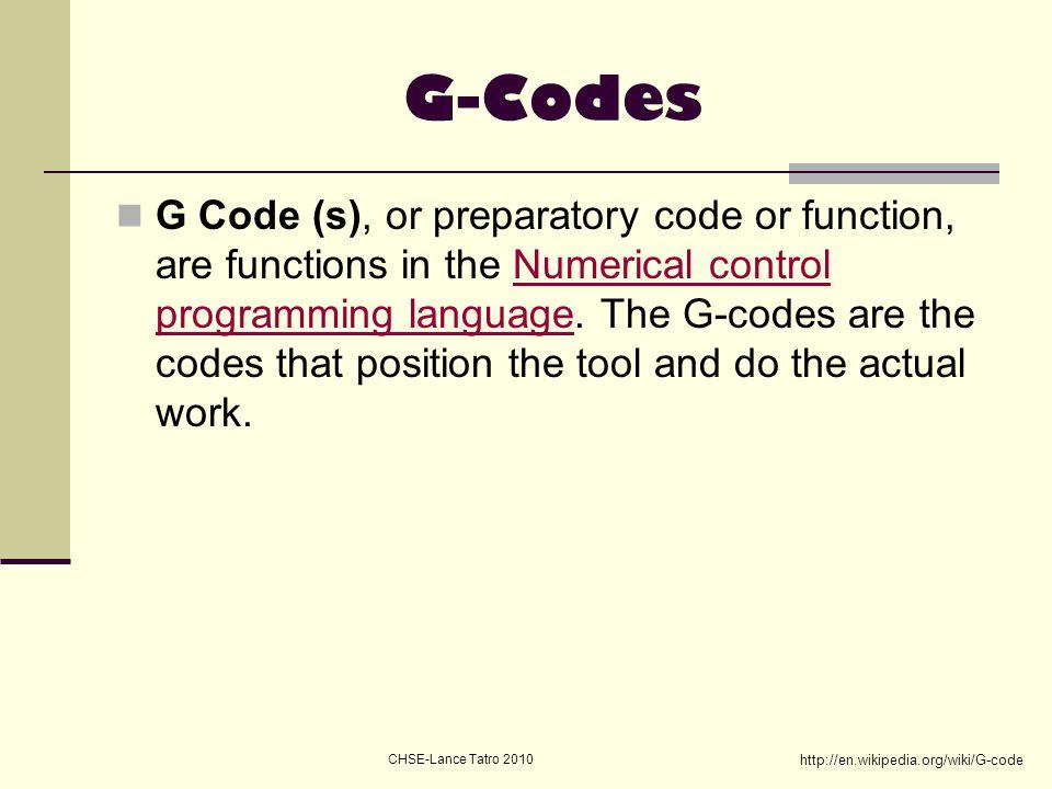 G-Codes