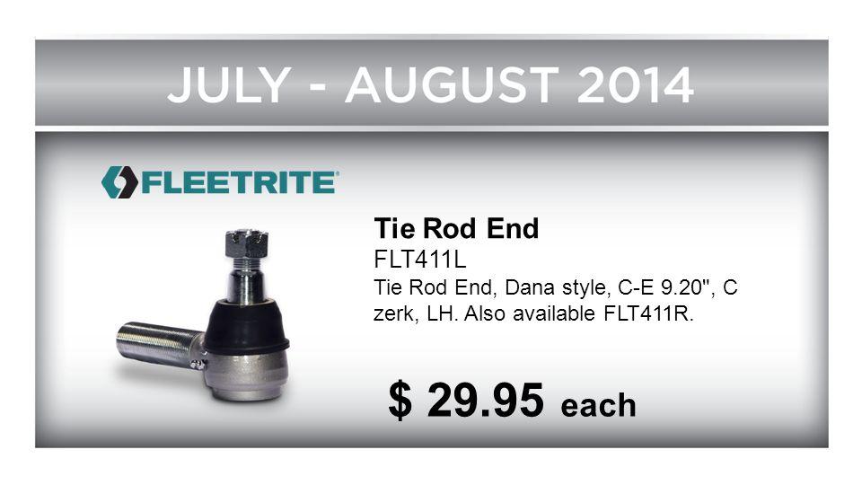 Tie Rod End FLT411L. Tie Rod End, Dana style, C-E 9.20 , C zerk, LH.