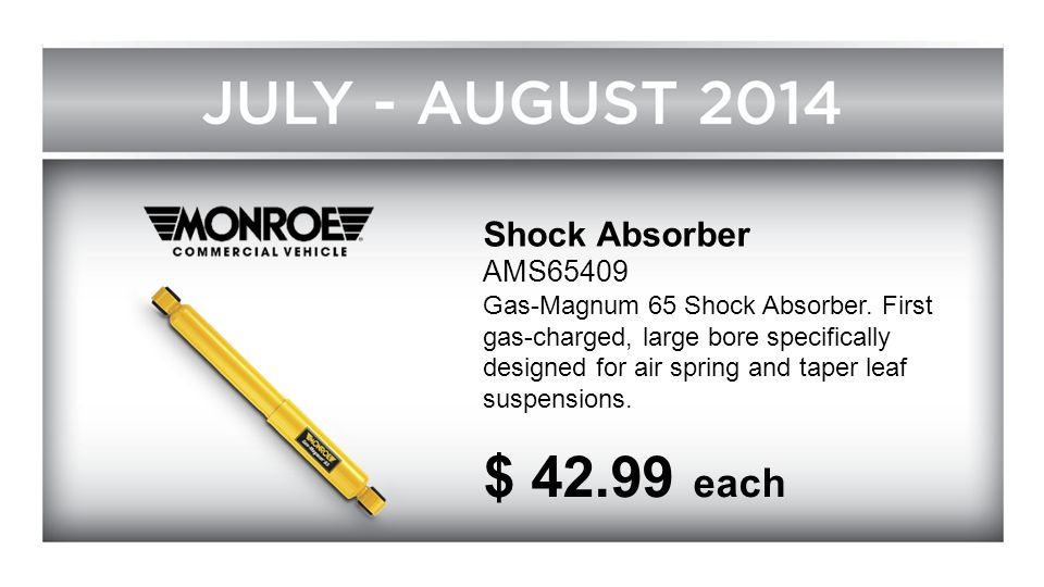 $ 42.99 each Shock Absorber AMS65409