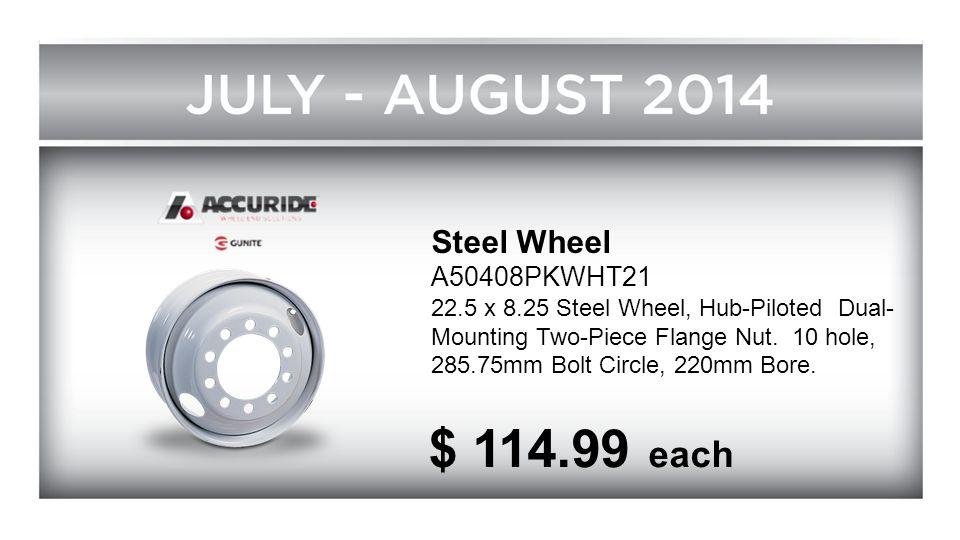 $ 114.99 each Steel Wheel A50408PKWHT21