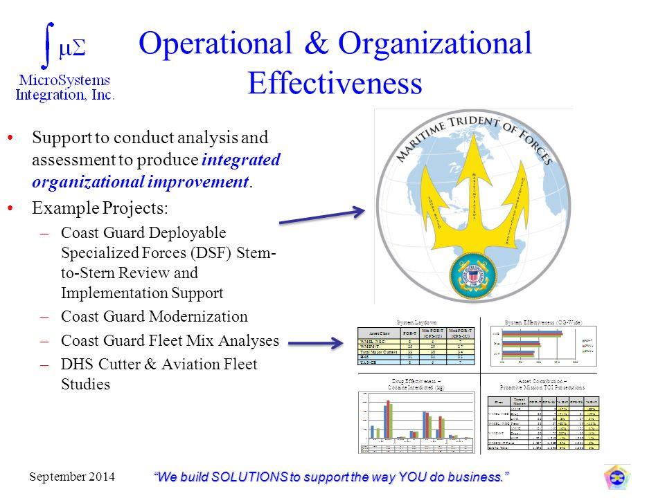 Operational & Organizational Effectiveness