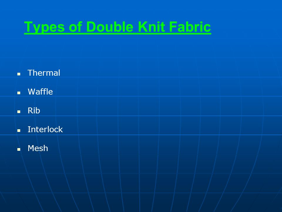 Types of Double Knit Fabric