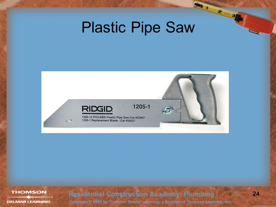 Plastic Pipe Saw