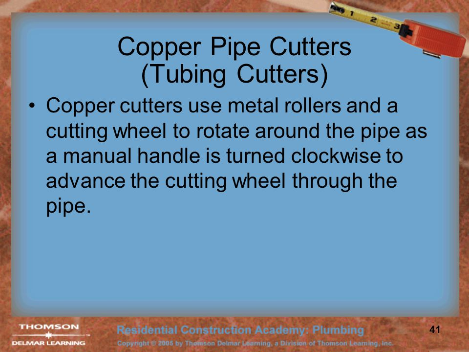 Copper Pipe Cutters (Tubing Cutters)