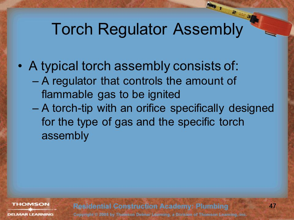 Torch Regulator Assembly