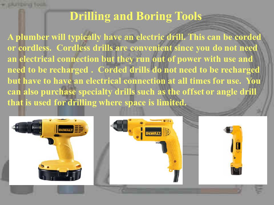 Drilling and Boring Tools