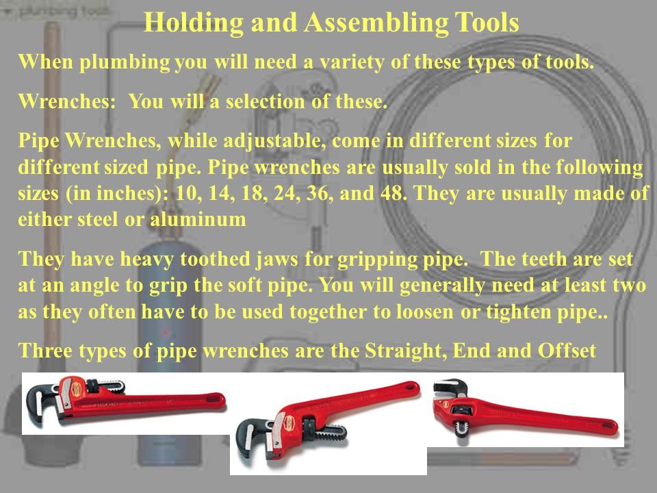 Holding and Assembling Tools