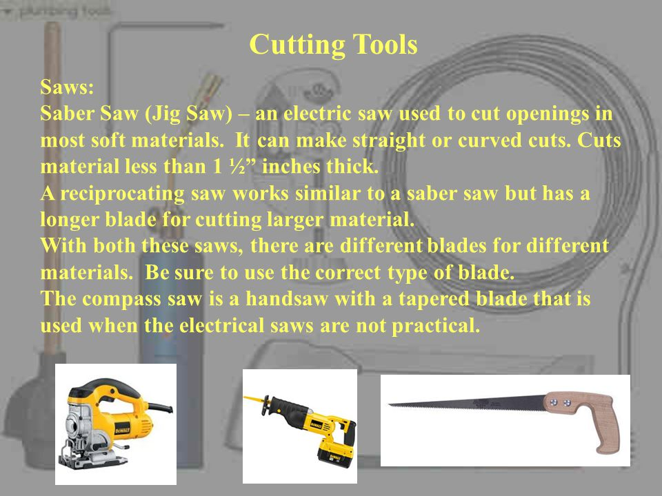 Cutting Tools Saws: