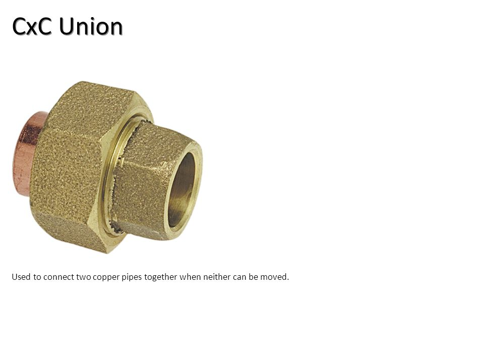 CxC Union Plumbing Tools And Supplies-Copper Pipe and Fittings Image: CopperUnion.jpg Height: 360 Width: 360.