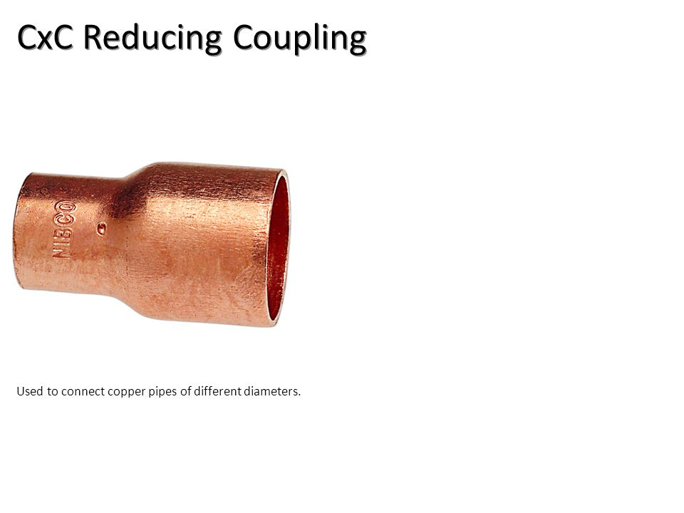 CxC Reducing Coupling Plumbing Tools And Supplies-Copper Pipe and Fittings Image: CopperRedCoupling.jpg Height: 360 Width: 360.