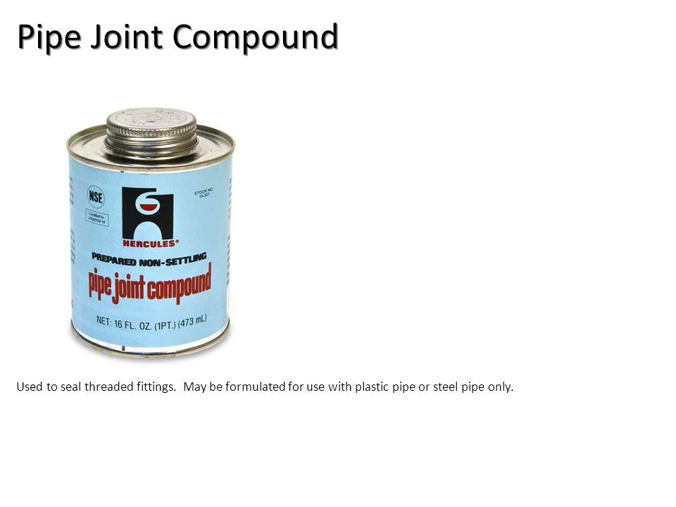 Pipe Joint Compound Plumbing Tools And Supplies-Misc Plumbing Image: PipeJointCompound2.jpg Height: 500 Width: 500.