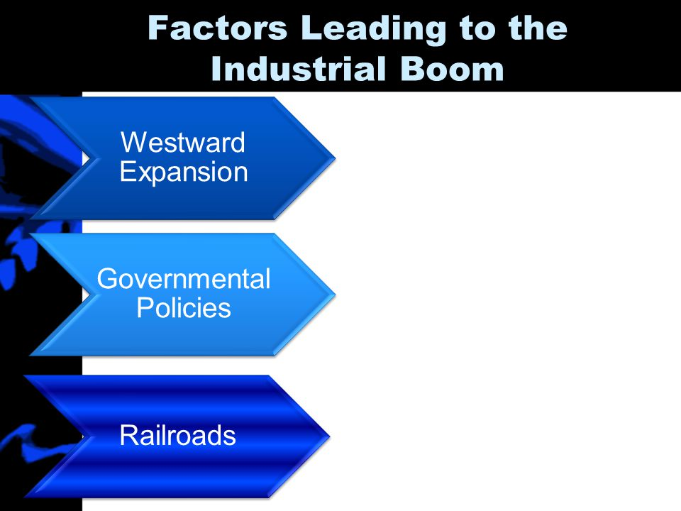 Factors Leading to the Industrial Boom