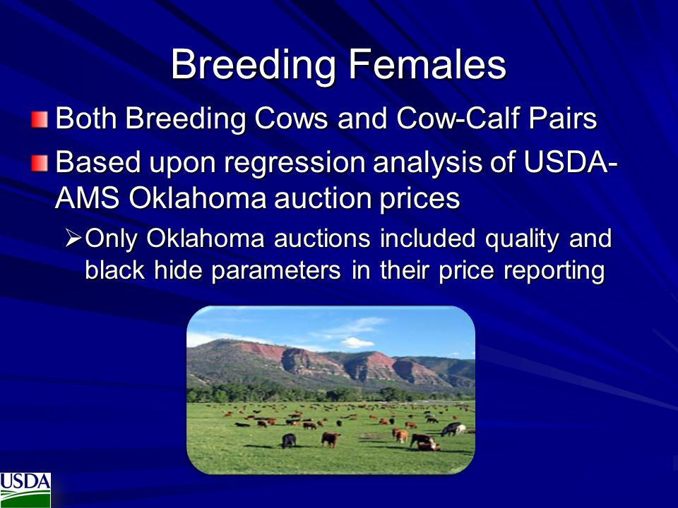 Breeding Females Both Breeding Cows and Cow-Calf Pairs